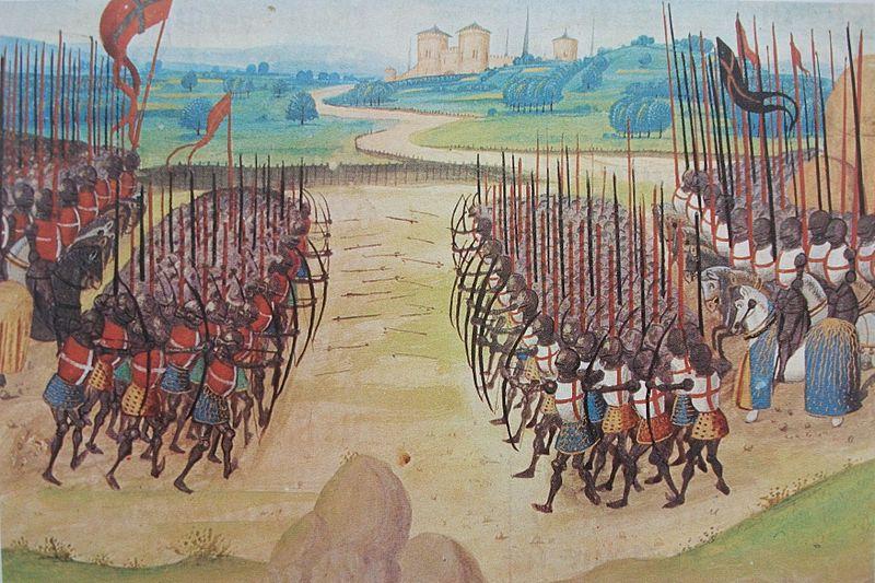 Schlacht von Azincourt (1415),  Lizenz: Gemeinfrei